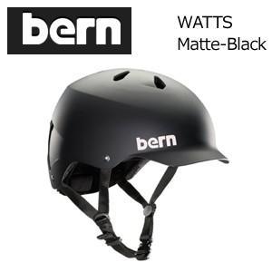 送料無料 正規代理店 bern バーン ヘルメット スケートボード スノーボード 自転車 ジャパンフィット/WATTS MATTE-BLACK BM25BMBLK|surfer