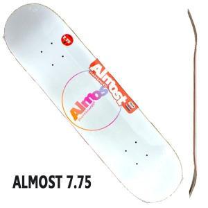 ALMOST/オールモスト CENTER PIECE HYB WHITE 7.75 DECK SK8  スケートボード/スケボーデッキ surfingworld