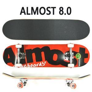 ALMOST/オルモスト コンプリートスケートボード/スケボー COLOR LOGO RED 8.0 SK8   [返品、交換及びキャンセル不可]|surfingworld