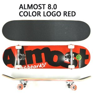 ALMOST/オルモスト コンプリートスケートボード/スケボー COLOR LOGO RED 8.0 SK8   [返品、交換及びキャンセル不可]|surfingworld|02