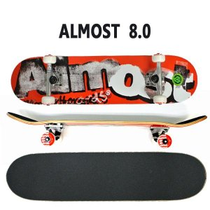 ALMOST/オルモスト コンプリートスケートボード/スケボー DISTRESSED FP RED 8.0 送料無料 SKATEBOARDS スケボー 完成品 SK8|surfingworld