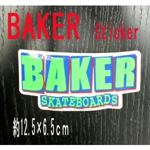 BAKER/ベイカー BAKER LOGO GREEN STICKER/ステッカー シール スケボー surfingworld