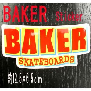 BAKER/ベイカー BAKER LOGO RED STICKER/ステッカー シール スケボー surfingworld