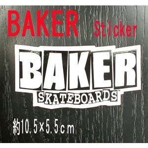 BAKER/ベイカー BAKER LOGO S BLACK STICKER/ステッカー シール スケボー surfingworld