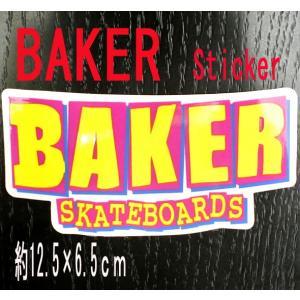 BAKER/ベイカー BAKER LOGO YELLOW STICKER/ステッカー シール スケボー surfingworld