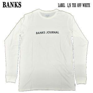 値下げしました!BANKS/バンクス LABEL L/S TEE OFF WHITE MENS メンズ 男性用 長袖Tシャツ 丸首 surfingworld
