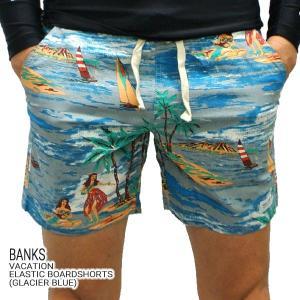 BANKS/バンクス VACATION BOARDSHORTS GLACIER BLUE 男性用 サーフパンツ ボードショーツ サーフトランクス 海パン 水着 メンズ 0178|surfingworld