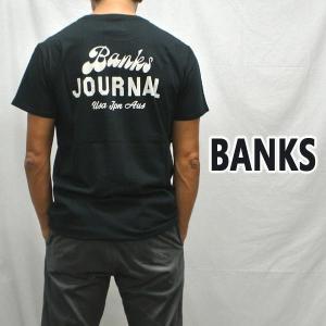 BANKS/バンクス SCRYPTO DIRTY BLACK メンズ S/S TEE 半袖 プリント Tシャツ [返品、交換及びキャンセル不可] WTS0406|surfingworld
