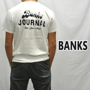 BANKS/バンクス SCRYPTO OFF WHITE メンズ S/S TEE 半袖 プリント Tシャツ [返品、交換及びキャンセル不可] WTS0406|surfingworld