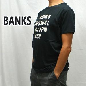 BANKS/バンクス HEMISPHERE DIRTY BLACK メンズ S/S TEE 半袖 プリント Tシャツ [返品、交換及びキャンセル不可] WTS0407|surfingworld