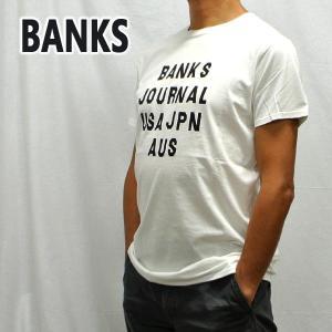 BANKS/バンクス HEMISPHERE OFF WHITE メンズ S/S TEE 半袖 プリント Tシャツ [返品、交換及びキャンセル不可] WTS0407|surfingworld