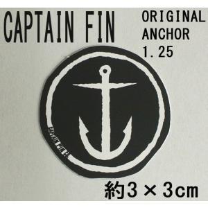 CAPTAIN FIN/キャプテンフィン ORIGINAL ANCHOR 1.25 SMALL BLACK STICKER/ステッカー シール スケボー surfingworld