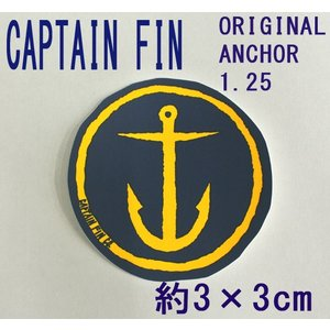 CAPTAIN FIN/キャプテンフィン ORIGINAL ANCHOR 1.25 SMALL NAVY STICKER/ステッカー シール スケボー surfingworld