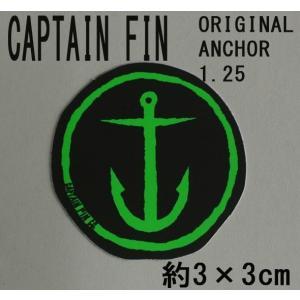 CAPTAIN FIN/キャプテンフィン ORIGINAL ANCHOR 1.25 SMALL NEON GREEN STICKER/ステッカー シール スケボー surfingworld