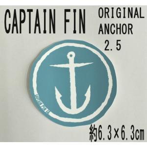 CAPTAIN FIN/キャプテンフィン ORIGINAL ANCHOR 2.5 BLUE STICKER/ステッカー シール スケボー surfingworld