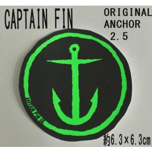 CAPTAIN FIN/キャプテンフィン ORIGINAL ANCHOR 2.5 NEON GREEN STICKER/ステッカー シール スケボー surfingworld