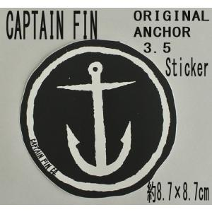CAPTAIN FIN/キャプテンフィン ORIGINAL ANCHOR 3.5 BLACK STICKER/ステッカー シール スケボー surfingworld
