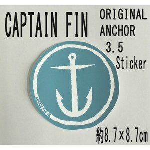 CAPTAIN FIN/キャプテンフィン ORIGINAL ANCHOR 3.5 BLUE STICKER/ステッカー シール スケボー surfingworld