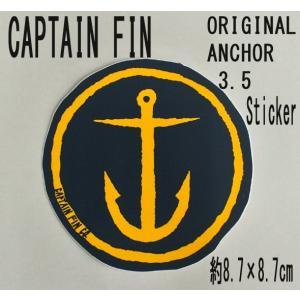 CAPTAIN FIN/キャプテンフィン ORIGINAL ANCHOR 3.5 NAVY STICKER/ステッカー シール スケボー surfingworld