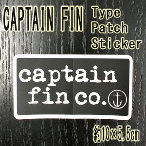 CAPTAIN FIN/キャプテンフィン TYPE PATCH BLACK STICKER/ステッカー シール スケボー surfingworld