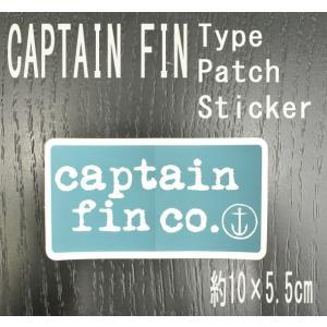 CAPTAIN FIN/キャプテンフィン TYPE PATCH BLUE STICKER/ステッカー シール スケボー surfingworld