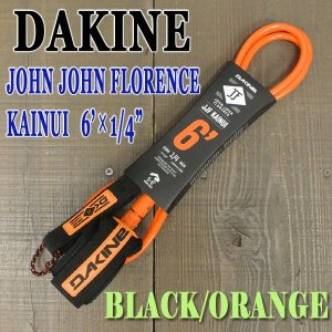 DAKINE/ダカイン JOHN JOHN FLORENCE KAINUI 6 x 1/4 BLACK/ORANGE LEASH CODE/リーシュコード ジョンジョンフローレンス サーフボード用 パワーコード surfingworld