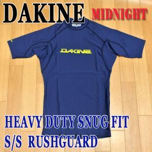 値下げしました!DAKINE/ダカイン メンズ半袖ラッシュガード HEAVY DUTY SNUG FIT S/S RASHGUARD MIDNIGHT UPF50+ MENS 男性用水着 UVカット|surfingworld