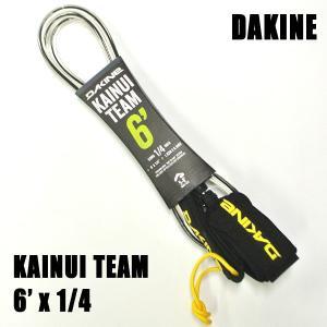 DAKINE/ダカイン KAINUI TEAM LEASH 6x1/4 BLACK/CLEAR ショートボード用リーシュコード サーフボード用|surfingworld