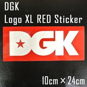 DGK/ディージーケイ STICKER/ステッカー 【LOGO XL RED】|surfingworld