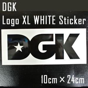 DGK/ディージーケイ STICKER/ステッカー 【LOGO XL WHITE】|surfingworld