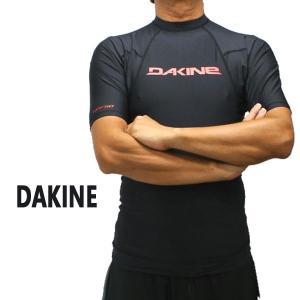 DAKNE/ダカイン メンズ半袖ラッシュガード HEAVY DUTY SNUG FIT S/S RASHGUARD BLACK UPF50+ 男性用水着 UVカット 19|surfingworld