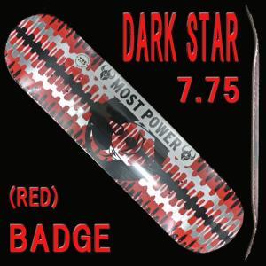 DARK STAR/ダークスター スケートボードデッキ BADGE RHM RED 7.75 DECK スケボーSK8 surfingworld