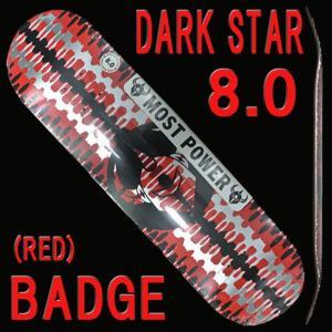 DARK STAR/ダークスター スケートボードデッキ BADGE RHM RED 8.0 DECK スケボーSK8 surfingworld
