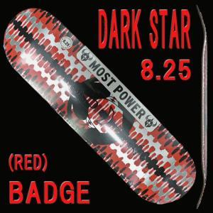 DARK STAR/ダークスター スケートボードデッキ BADGE RHM RED 8.25 DECK スケボーSK8 surfingworld