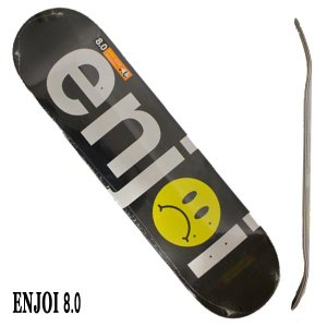 ENJOI/エンジョイ FROWNY FACE NO BRAINER HYB BLACK/SILVER 8.0 DECK SK8  スケートボード/スケボーデッキ|surfingworld