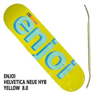 ENJOI/エンジョイ HELVETICA NEUE HYB YELLOW 8.0 DECK SK8  スケートボード/スケボーデッキ|surfingworld|03