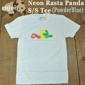 値下げしました!ENJOI/エンジョイ メンズ 半袖Tシャツ【NEON RASTA PANDA S/S TEE POWDER BLUE】男性用T-SHIRTS スケートボード/スケボー/SK8|surfingworld