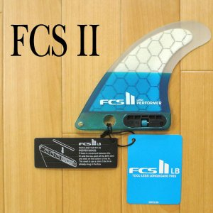 FCS2 FIN/エフシーエス2 ロングボード用フィン PERFORMER PC TEAL LARGE LONGBOARD CENTER PC PERFORMANCE CORE/パフォーマンスコア ボックスフィン|surfingworld