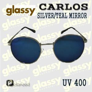 GLASSY SUNHATERS/グラッシーサンヘイターズ サングラス CARLOS POLARIZED SILVER/TEAL MIRROR サングラス EYEWEAR/アイウェア  偏光レンズ|surfingworld