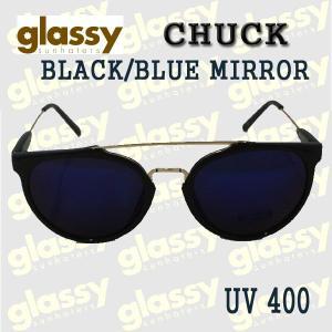 GLASSY SUNHATERS/グラッシーサンヘイターズ サングラス CHUCK BLACK/BLUE MIRROR サングラス EYEWEAR/アイウェア|surfingworld
