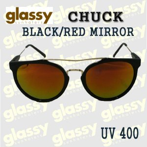 GLASSY SUNHATERS/グラッシーサンヘイターズ サングラス CHUCK BLACK/RED MIRROR サングラス EYEWEAR/アイウェア|surfingworld