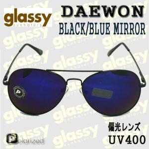 GLASSY SUNHATERS/グラッシーサンヘイターズサングラス DAEWON BLACK/BLUE MIRROR サングラス POLARIZED EYEWEAR/アイウェア 偏光レンズ|surfingworld