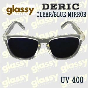 GLASSY SUNHATERS/グラッシーサンヘイターズ サングラス DERIC CLEAR/BLUE MIRROR サングラス EYEWEAR/アイウェア|surfingworld