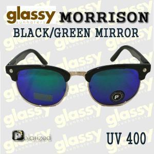 GLASSY SUNHATERS/グラッシーサンヘイターズ サングラス MORRISON POLARIZED BLACK/GREEN MIRROR サングラス EYEWEAR/アイウェア  偏光レンズ|surfingworld