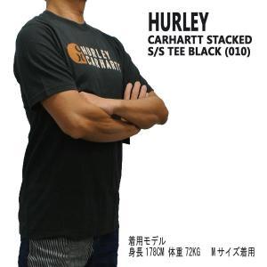 HURLEY/ハーレー CARHARTT BFY STACKED S/S TEE 010 BLACK 男性用 T-SHIRTS メンズ半袖Tシャツ カーハートコラボ [返品、交換及びキャンセル不可]|surfingworld|02