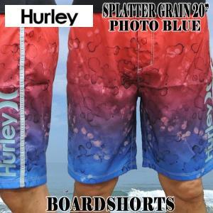 値下げしました!HURLEY/ハーレー SPLATTER GRAIN BOARDSHORTS 20 PHOTO BLUE 男性用 メンズ サーフパンツ ボードショーツ サーフトランクス 海水パンツ 水着|surfingworld