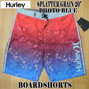 値下げしました!HURLEY/ハーレー SPLATTER GRAIN BOARDSHORTS 20 PHOTO BLUE 男性用 メンズ サーフパンツ ボードショーツ サーフトランクス 海水パンツ 水着|surfingworld|02