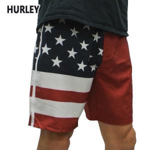 HURLEY/ハーレー PHANTOM PATRIOT 18 BOARDSHORTS GYMRED 687 男性用 メンズ サーフパンツ ボードショーツ サーフトランクス 海水パンツ 水着 海パン|surfingworld