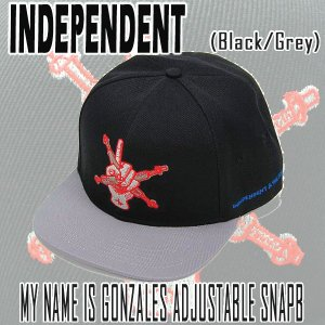 INDEPENDENT/インデペンデント MY NAME IS GONZALES ADJUSTABLE SNAP BACK  BLACK CAP/キャップ HAT/ハット 帽子|surfingworld