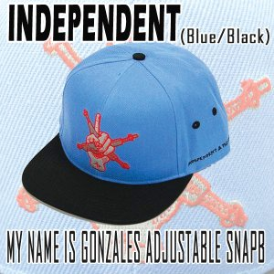 INDEPENDENT/インデペンデント MY NAME IS GONZALES ADJUSTABLE SNAP BACK  BLUE CAP/キャップ HAT/ハット 帽子|surfingworld